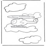 Allerhand Ausmalbilder - Hubschrauber 1