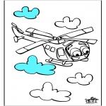 Allerhand Ausmalbilder - Hubschrauber 3
