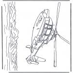 Allerhand Ausmalbilder - Hubschrauber übers Meer