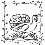 Ausmalbilder Tiere - Huhn 2