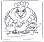 Huhn mit Kükens