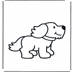 Ausmalbilder Tiere - Hund 1