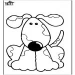 Ausmalbilder Tiere - Hund 10