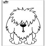 Ausmalbilder Tiere - Hund 11