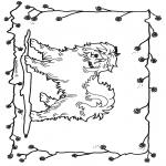 Ausmalbilder Tiere - Hund 2