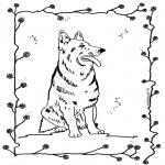 Ausmalbilder Tiere - Hund 4