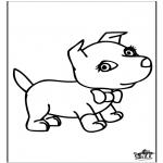 Ausmalbilder Tiere - Hund 6