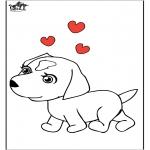 Ausmalbilder Tiere - Hund 7
