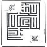 Malvorlagen Basteln - Hund Labyrinth