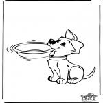 Ausmalbilder Tiere - Hund