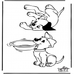 Ausmalbilder Tiere - Hunde 3