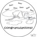 Ausmalbilder Themen - Hurra ein Baby ! 2