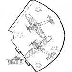 Malvorlagen Basteln - Hut - Flugzeug