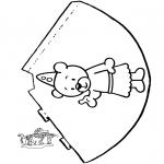 Malvorlagen Basteln - Hütchen Bumba