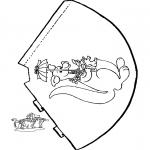 Malvorlagen Basteln - Hütchen Känguru