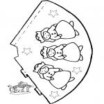 Malvorlagen Basteln - Hütchen Prinzessin