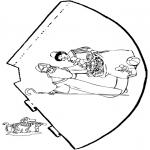 Basteln Stechkarten - Hütchen Sankt Nikolaus 3