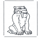 Ausmalbilder Comicfigure - Ice Age 1