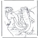 Ausmalbilder Comicfigure - Ice age 11