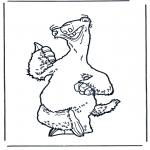 Ausmalbilder Comicfigure - Ice age 5