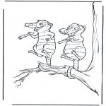 Ausmalbilder Comicfigure - Ice age 6