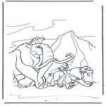 Ausmalbilder Comicfigure - Ice Age 9