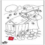 Allerhand Ausmalbilder - Imkerei und Bienen