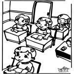 Ausmalbilder für Kinder - in der Klasse 2