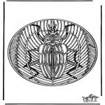 Malvorlagen Mandalas - Insekt Mandala 2