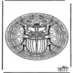 Malvorlagen Mandalas - Insekt Mandala