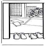Allerhand Ausmalbilder - Japanisches Haus