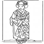 Allerhand Ausmalbilder - Japanisches Mädchen