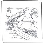 Bibel Ausmalbilder - Jesus am  Wasser