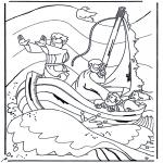 Bibel Ausmalbilder - Jesus auf der See
