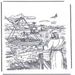 Bibel Ausmalbilder - Jesus der Simon und Andreas berief