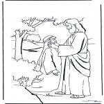 Bibel Ausmalbilder - Jesus heilt einen Taube