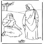 Bibel Ausmalbilder - Jesus heilt