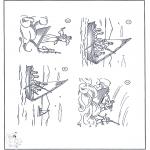 Bibel Ausmalbilder - Jesus im Sturm