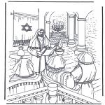 Bibel Ausmalbilder - Jesus im Tempel