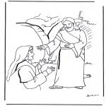 Bibel Ausmalbilder - Jesus ist auferstanden