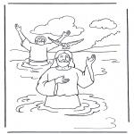 Bibel Ausmalbilder - Jesus und Johannes der Täufer 1