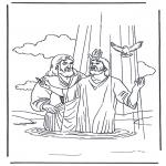 Bibel Ausmalbilder - Jesus und Johannes der Täufer 2