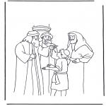 Bibel Ausmalbilder - Jesus von zwölf Jahren