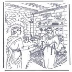Bibel Ausmalbilder - Jesus wird gesalbt