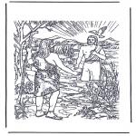 Bibel Ausmalbilder - Jesus wird getauft