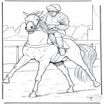Allerhand Ausmalbilder - Jockey