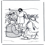 Bibel Ausmalbilder - Johannes der Täufer