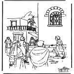 Bibel Ausmalbilder - Johannes spricht