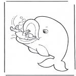 Bibel Ausmalbilder - Jona und die Fisch