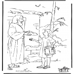 Bibel Ausmalbilder - Josef bringt Essen